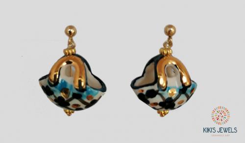 Kiki's Jewels - Orecchini Coffa blu